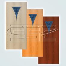 Двери 4-3 художественное остекленное изображение 1