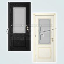 Двери Шервуд (эмаль) остекленное изображение 1
