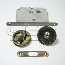 Фурнитура для раздвижных дверей Ручки круглые с замком бронза SSC-032-AB изображение 1