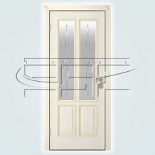 Двери Элегант (эмаль) остекленное изображение 3