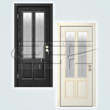Двери Элегант (эмаль) остекленное изображение 1