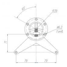 Мебельная фурнитура Опора прямая SSC-710 изображение 4