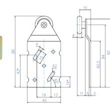 Раздвижные системы и комплекты для межкомнатных дверей Ролики для шкафа купе SSC-045-B изображение 2