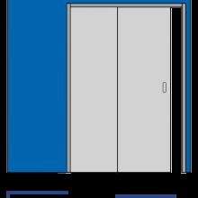 Раздвижные системы и комплекты для межкомнатных дверей Пенал телескопический SSC-045 изображение 2