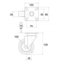 Мебельная фурнитура Колёсные опоры поворотные на площадке SSC-0004 изображение 2