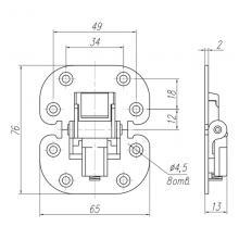 Фурнитура для раздвижных дверей Петля для двери типа книжка SSC-004 изображение 2
