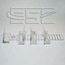 Раздвижные системы и комплекты для межкомнатных дверей Комплект механизмов на одну стеклянную раздвижную дверь SSC-007-A изображение 3