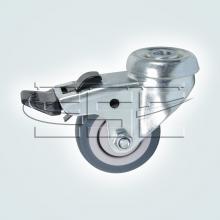 Мебельная фурнитура Колесо поворотное под штырь с тормозом SSC-0126 изображение 1