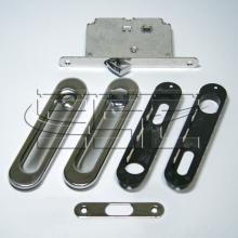 Фурнитура для раздвижных дверей Ручки овальные с замком хром SSC-031-CP изображение 1