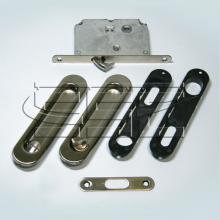 Фурнитура для раздвижных дверей Ручки овальные с замком сатин SSC-031-SN изображение 1
