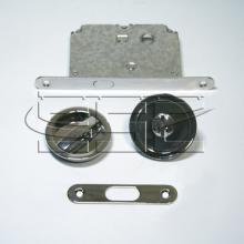 Фурнитура для раздвижных дверей Ручки круглые с замком хром SSC-032-CP изображение 1