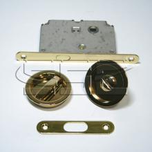 Фурнитура для раздвижных дверей Ручки круглые с замком золото SSC-032-PB изображение 1