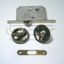 Фурнитура для раздвижных дверей Ручки круглые с замком сатин SSC-032-SN изображение 1