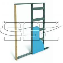 Металлический пенал для одной раздвижной двери SSC-040-G