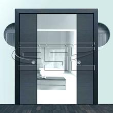 Раздвижные системы и комплекты для межкомнатных дверей Пенал кассета для двух раздвижных двери SSC-041-70, размеры дверей 70+70*200 см изображение 1