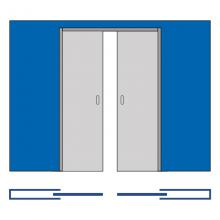 Раздвижные системы и комплекты для межкомнатных дверей Пенал кассета для двух раздвижных двери SSC-041-70, размеры дверей 70+70*200 см изображение 2