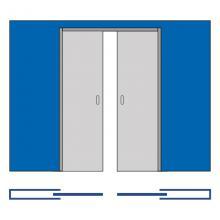 Раздвижные системы и комплекты для межкомнатных дверей Пенал кассета для двух раздвижных двери SSC-041-80, размеры дверей 80+80*200 см изображение 2