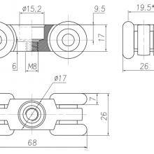 Фурнитура для раздвижных дверей Ролики закрытого типа SSC-D-103 изображение 2