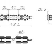 Фурнитура для раздвижных дверей Ролики закрытого типа SSC-3017 изображение 2
