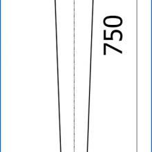 Опора для стола SSC-508 в высоту 750 мм изображение 2