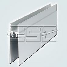 Профили для шкафа купе Нижняя рамка двери шкафа купе изображение 1
