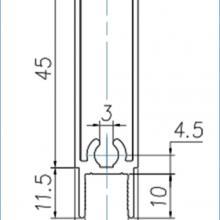 Профили для шкафа купе Нижняя рамка двери шкафа купе изображение 2