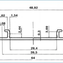 Профили для шкафа купе Нижний двухполозный профиль для шкафа купе ssc-606 изображение 2