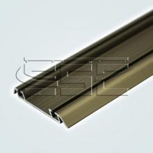 Профили для шкафа купе Нижний двухполозный профиль для шкафа купе ssc-606 изображение 4