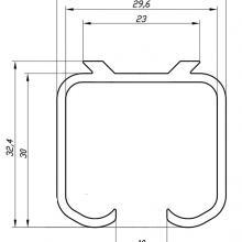 Направляющие для шкафов купе Верхняя направляющая SSC-P-001 изображение 2