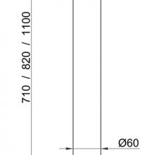 Мебельная фурнитура Опора прямая SSC-710 изображение 5