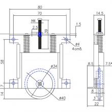 Раздвижные системы и комплекты для межкомнатных дверей Ролики для шкафа-купе SSC-215/216 изображение 3
