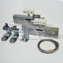 Раздвижные системы и комплекты для межкомнатных дверей Комплект синхронных механизмов для двух стеклянных  раздвижных дверей SSC-009-A изображение 1