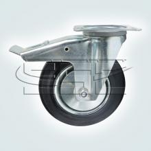 Мебельная фурнитура Колёсные опоры поворотные на площадке с тормозом SSC-0030 изображение 1