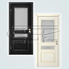 Двери Вена (эмаль) остекленное изображение 1