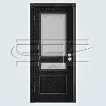 Двери Вена (эмаль) остекленное изображение 2