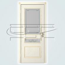 Двери Вена (эмаль) остекленное изображение 3