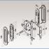 Фурнитура для раздвижных дверей Ручки овальные с замком золото SSC-031-PB изображение 4