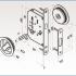 Фурнитура для раздвижных дверей Ручки круглые с замком золото SSC-032-PB изображение 2