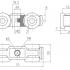 Фурнитура для раздвижных дверей Ролики закрытого типа SSC-D-104 изображение 2