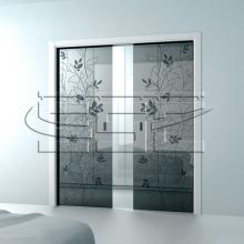 Пенал для двух стеклянных раздвижных дверей SSC-043
