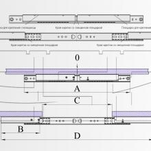 Механизмы для раздвижных столов несинхронного действия