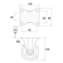 Колёсные опоры неповоротные на площадке SSC-0015 изображение 2