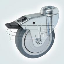 Колесо поворотное под штырь с тормозом SSC-0128 изображение 1