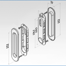 Ручки овальные хром SSC-030-CP изображение 3