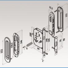Ручки овальные с замком хром SSC-031-CP изображение 4