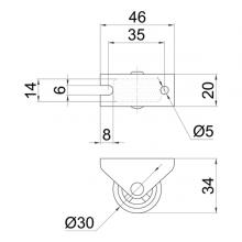 Колесо неповоротное на площадке SSC-05 изображение 2