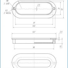 Ручка для шкафа купе серебро SSC-080-CP изображение 2