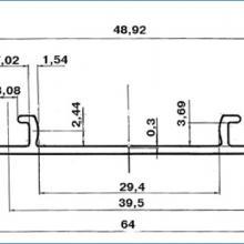Нижний двухполозный профиль для шкафа купе ssc-606 изображение 2