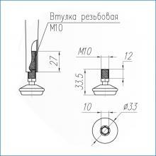 Мебельная фурнитура конусной опоры для столов марки SSC-710-D изображение 2